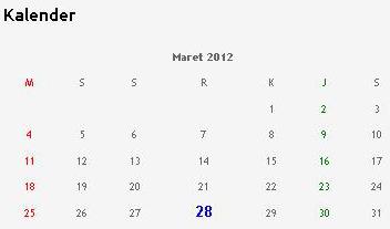 Cara Pasang Kalender di Blog