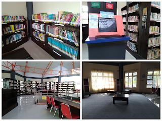 Foto ruang referensi, katalog dan tempat baca yang nyaman perspida