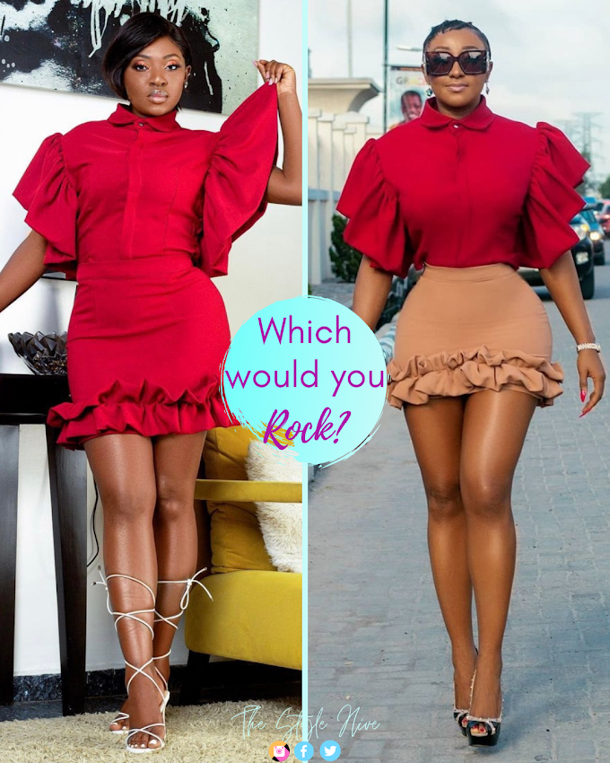 Which Would You Rock? Yvonne Jegede Vs Ini Edo In Red!