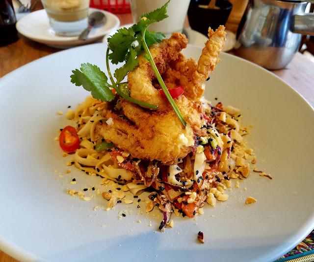 Stanley, Mt Waverley, soft shell crab noodle salad