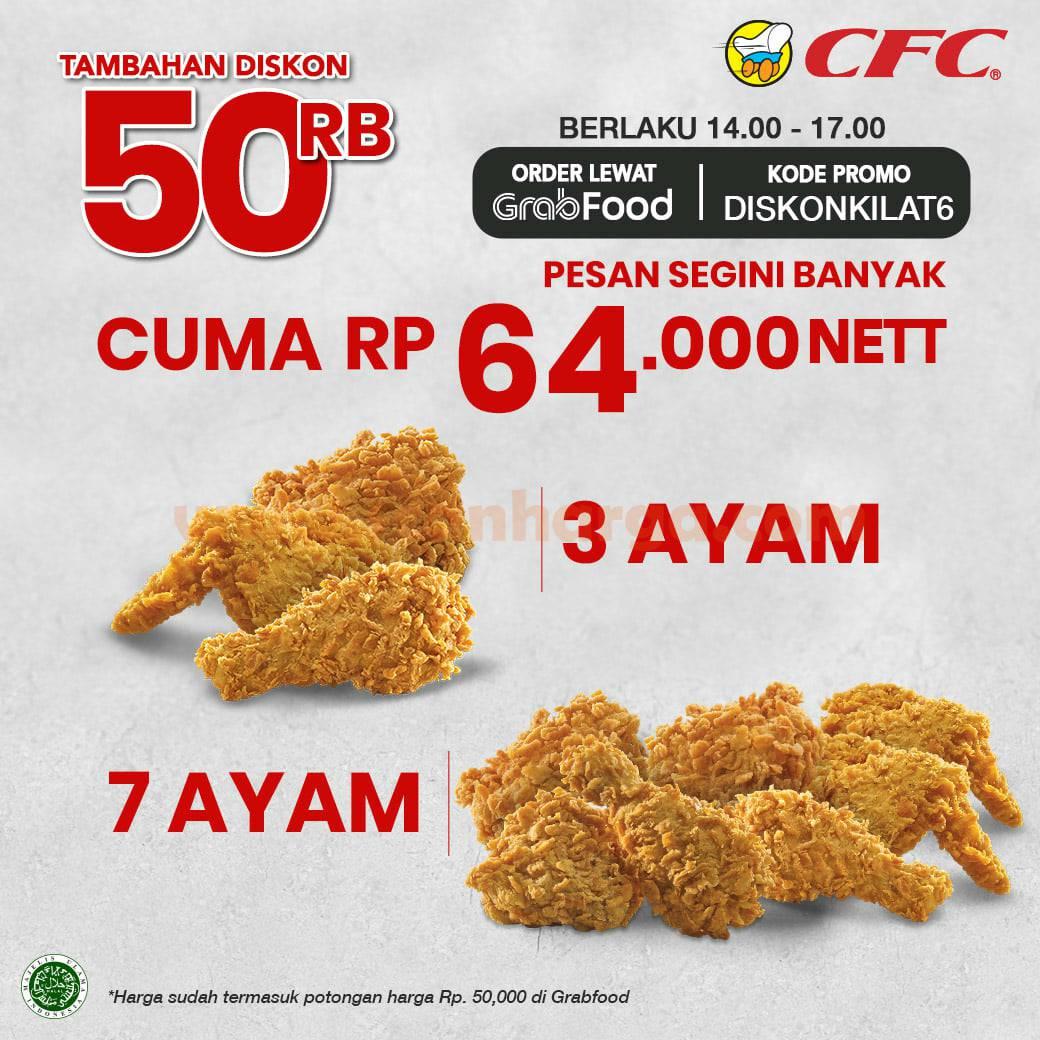 CFC Flash Sale Promo 11.11 Diskon Hemat Hingga 50% via Grabfood