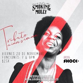 Concierto Tributo a Nina Simone en Smoking Molly Bogotá