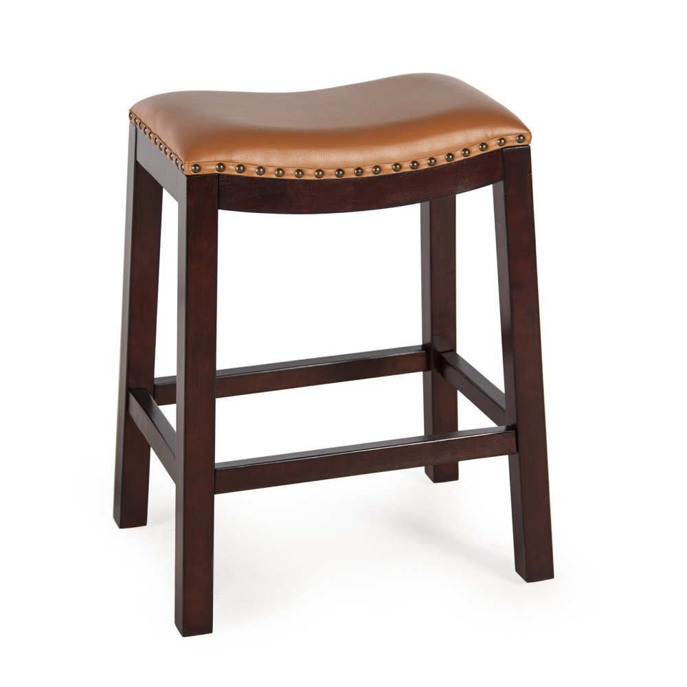 Bistro Counter Bar Stools Backless Wood Chairs Pub Swivel