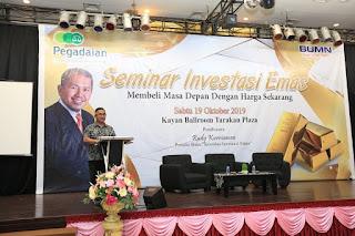 Wali Kota Membuka Acara Seminar Investasi Emas di Kayan Ballroom Hotel Tarakan