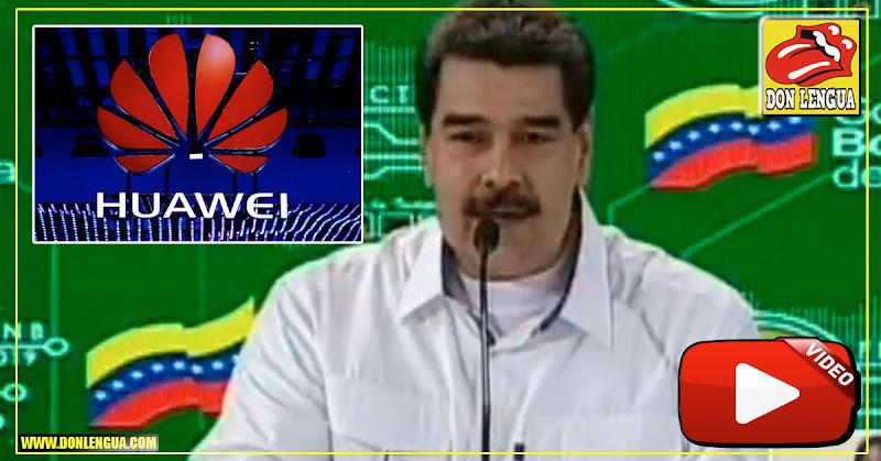 Maduro anuncia invertir dinero de los venezolanos en la fracasada compañía Huawei