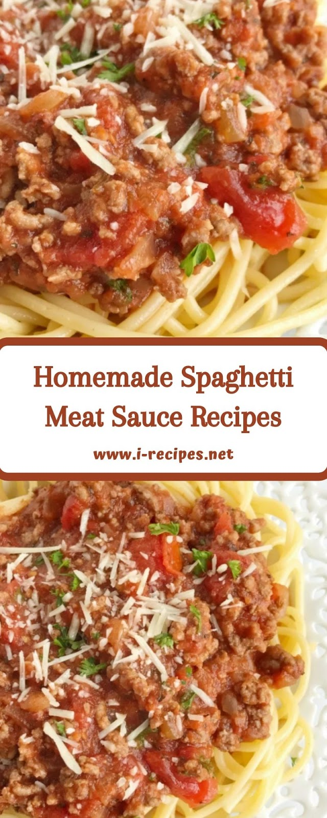 Homemade Spaghetti Meat Sauce Recipes