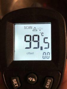 Termómetro digital 100ºC.