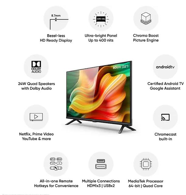 Realme 32 Inch Smart Tv की फ्लैश सेल 30 जून को फ्लिपकार्ट पर होगी।