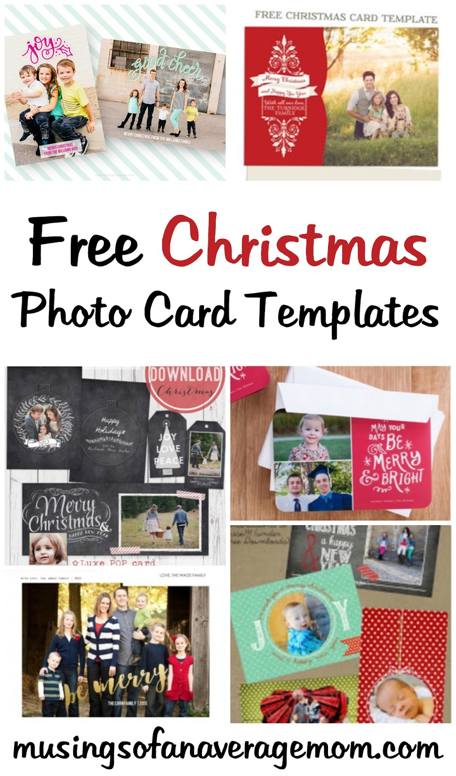 Free Christmas Card Templates.Musings Of An Average Mom Free Photo Christmas Card Templates