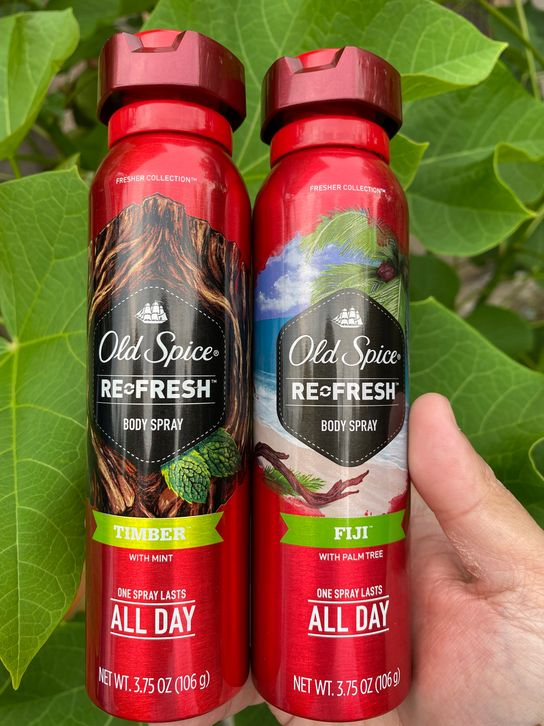 Old Spice Body Spray Timber and Fiji scents