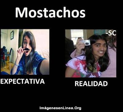 expectativa vs realidad: mostachos