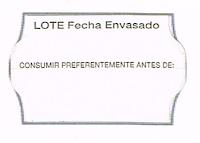 Etiqueta adhesiva para la caducidad