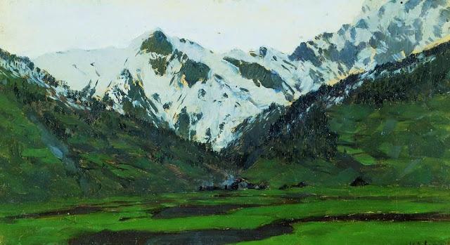 Исаак Ильич Левитан - В Альпах весной. 1897