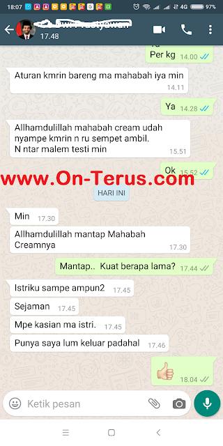 Testimoni TERBARU Obat Kuat Oles Mahabbah Cream