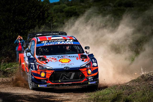 Dani Sordo leads Rally Sardinia, Italy