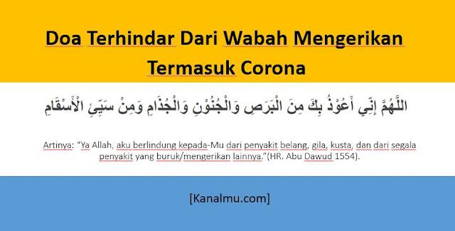 doa terhindar penyakit corona
