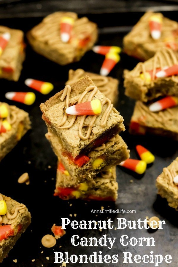 Peanut Butter Candy Corn Blondies Recipe