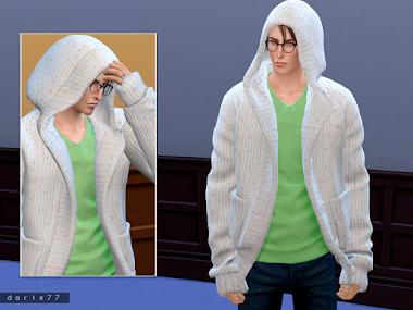 Hooded Knit Sweater AM/CU