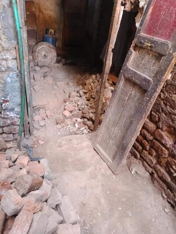 حقوقي ينقل استغاثه ارمله بعد انهيار منزلها