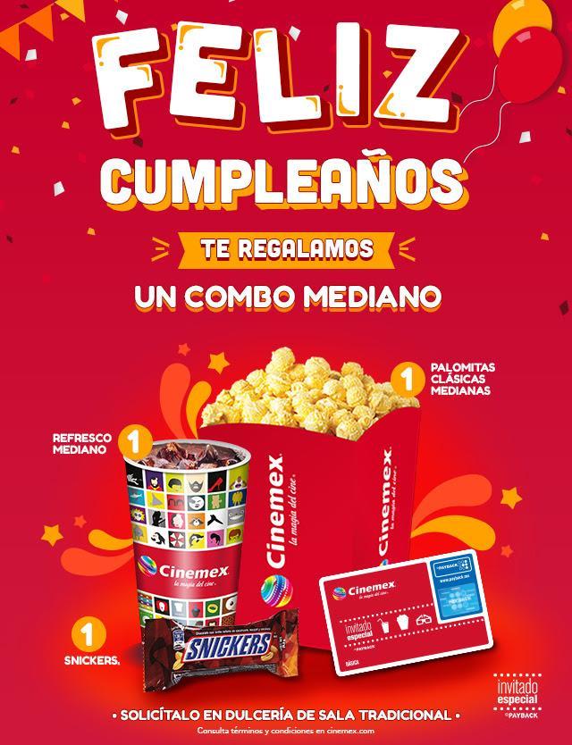 Promoción cumpleaños de Cinemex