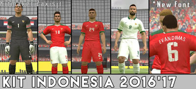 Zaxisjr PES 2016 & PES 2017 Indonesia Kit Pack