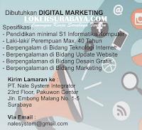 Loker Surabaya di PT. Nale System Integrator Juli 2020