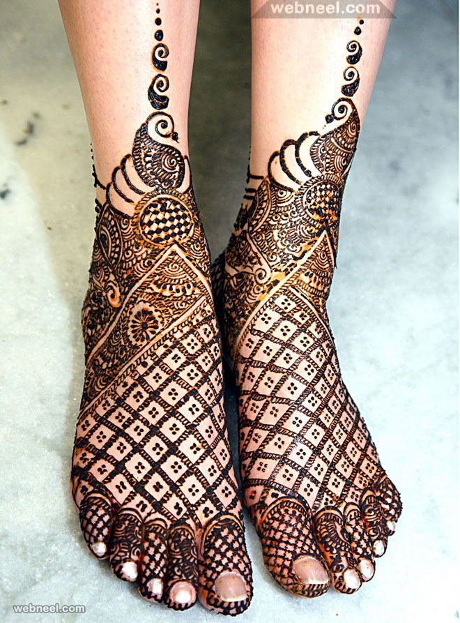Simple Leg Mehndi Designs : Stylish and modern mehandi designs for foot legs