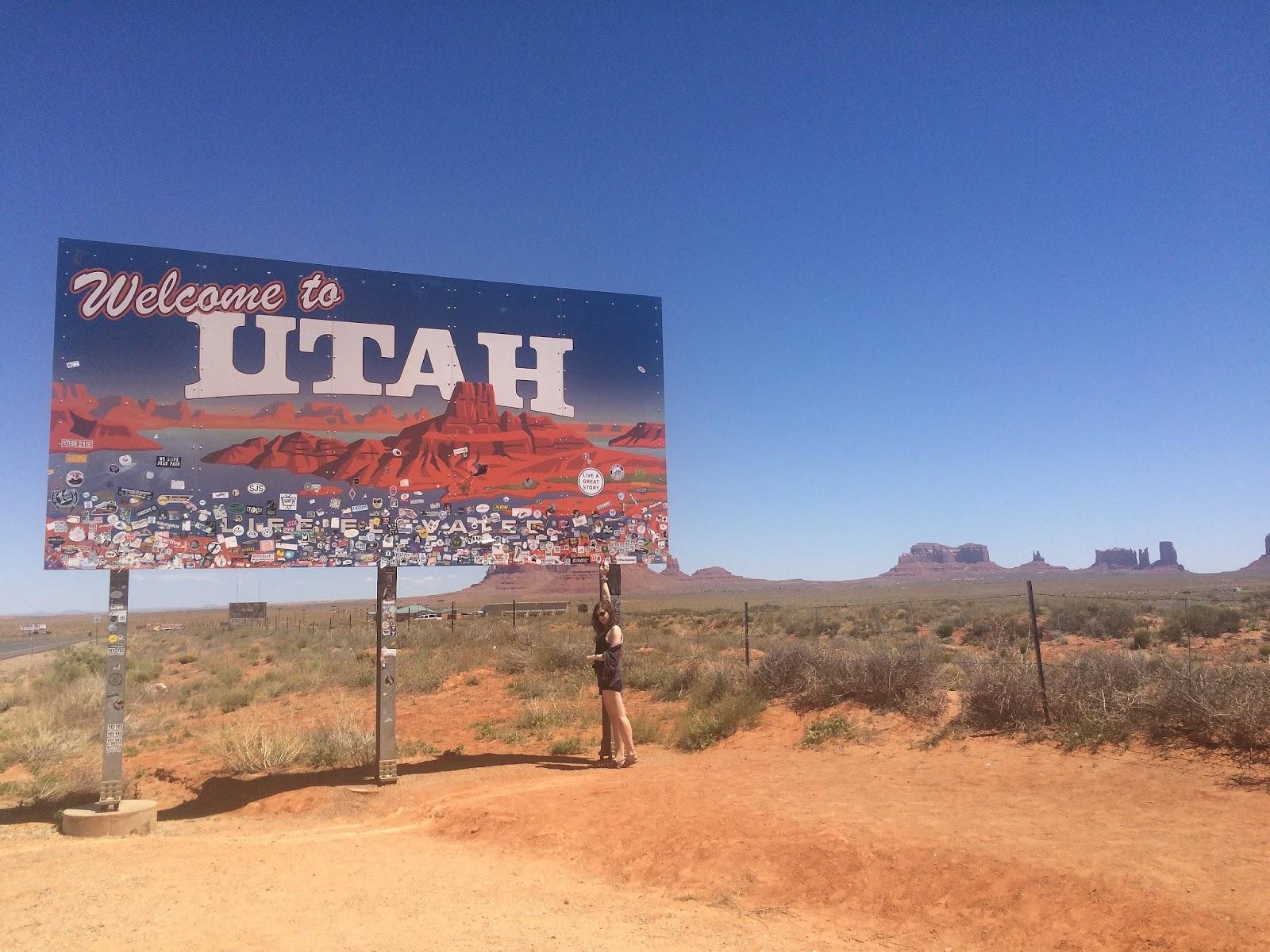 Utah border