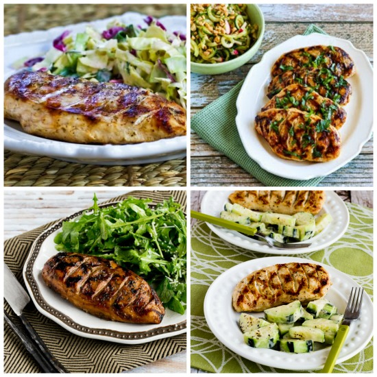 Five Easy Steps for Juicy Grilled Chicken Breasts from KalynsKitchen.com