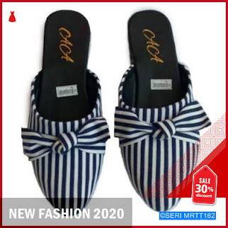 MRTT162S31 Sandal zebra hitam dan biru flat BMGShop