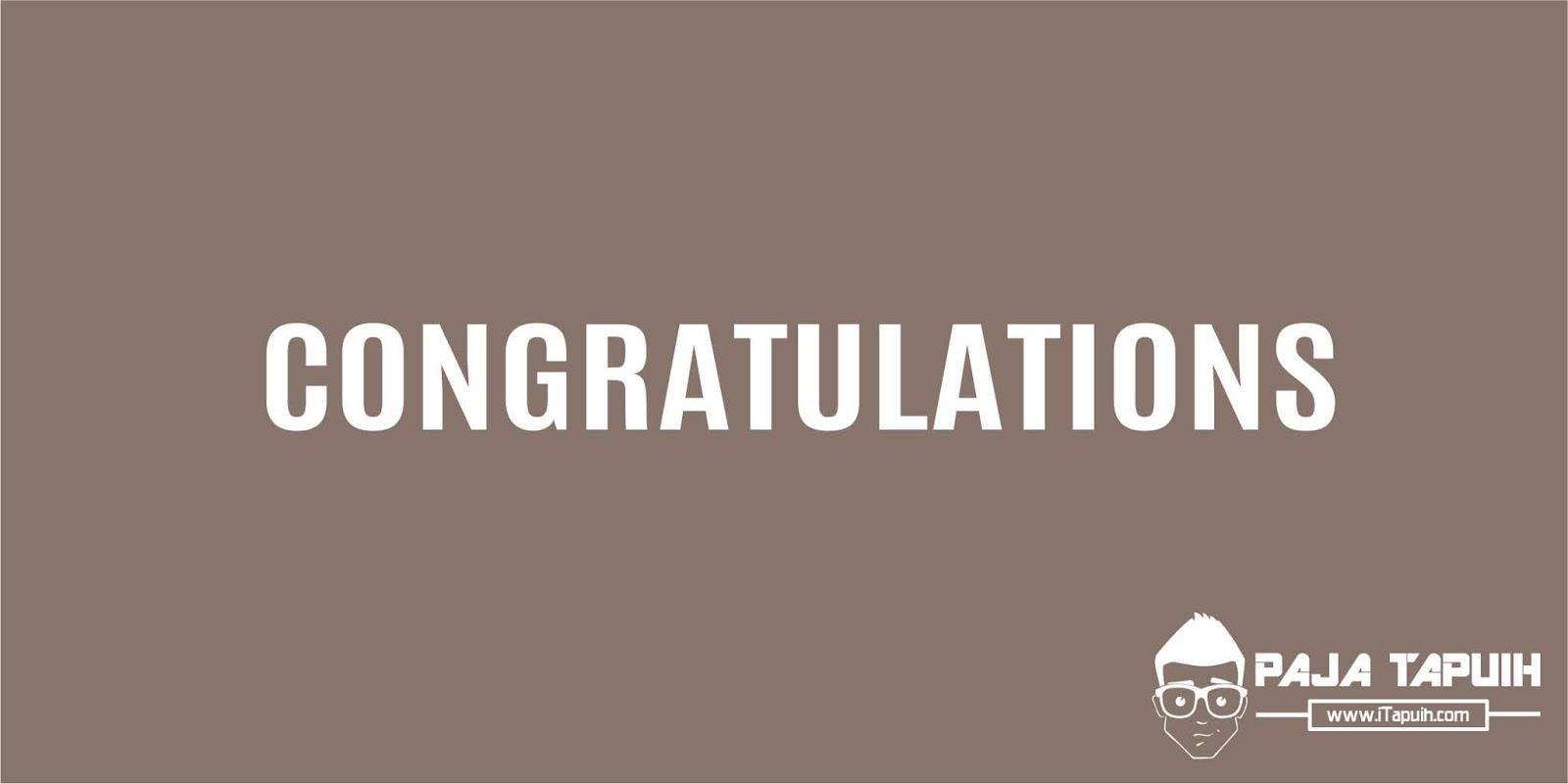 45 Kata Bahasa Inggris Pengganti Congratulations