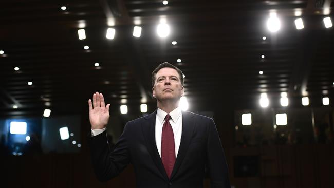 US President Donald Trump fired James Comey because of Russia investigation