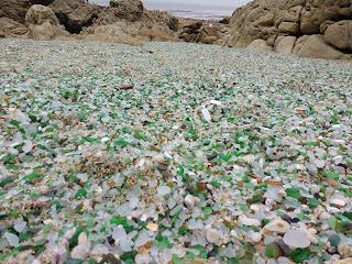 Cristales rodados por el mar,  Playa de los Cristales, Laxe, A Coruña