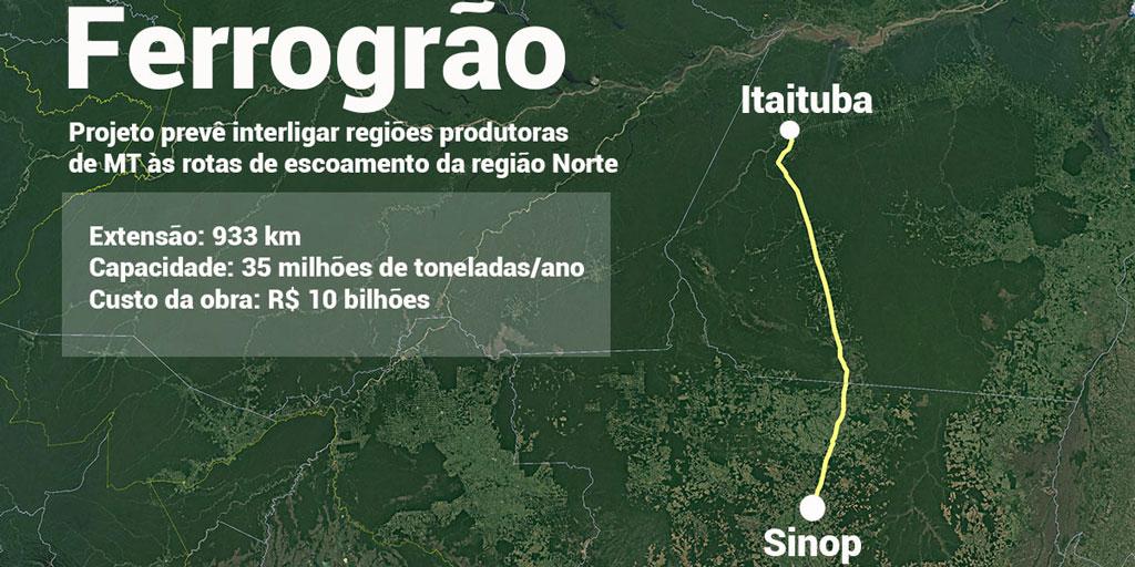 Indígenas terão que ser ouvidos sobre as obras da Ferrogrão, que ligará Sinop a Itaituba