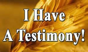 Click on Page link below for Testimonies