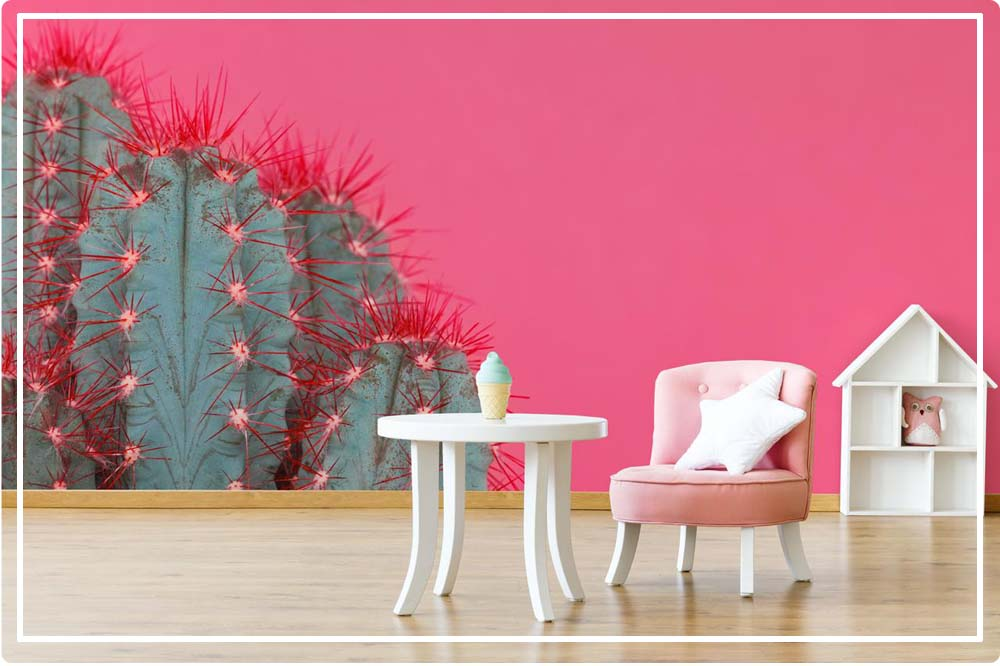 papier peint cactus pas cher