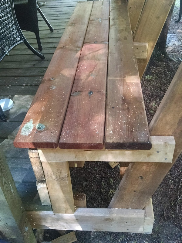 plans for deck bench