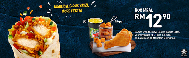 KFC Ole' Ole' Rice Wrap Box Meal RM 12.90