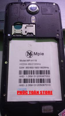Rom Mpie H118 và Mp 118 mt6572 alt