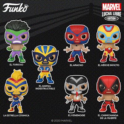 Marvel Luchadores Pop! Vinyl Figures by Funko