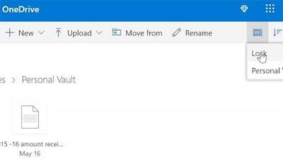 Cara Menggunakan OneDrive Personal Vault