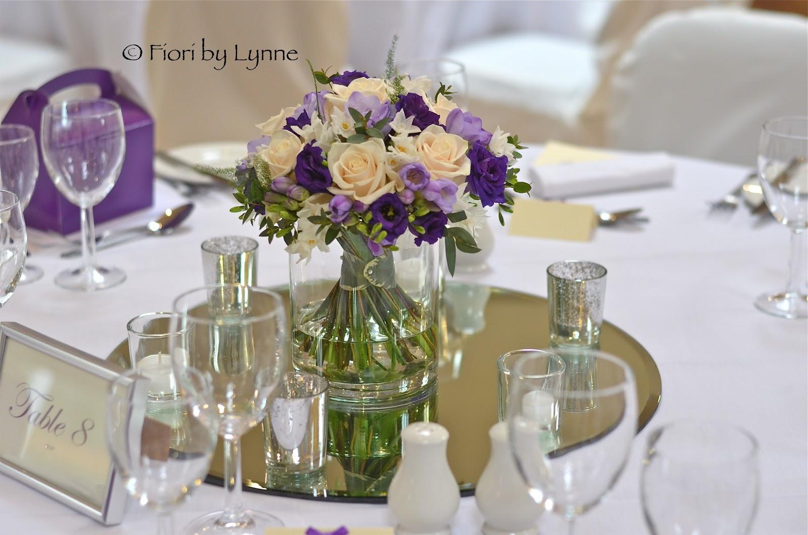 Wedding Flowers Blog: Emma's Purple,Cream And LIlac