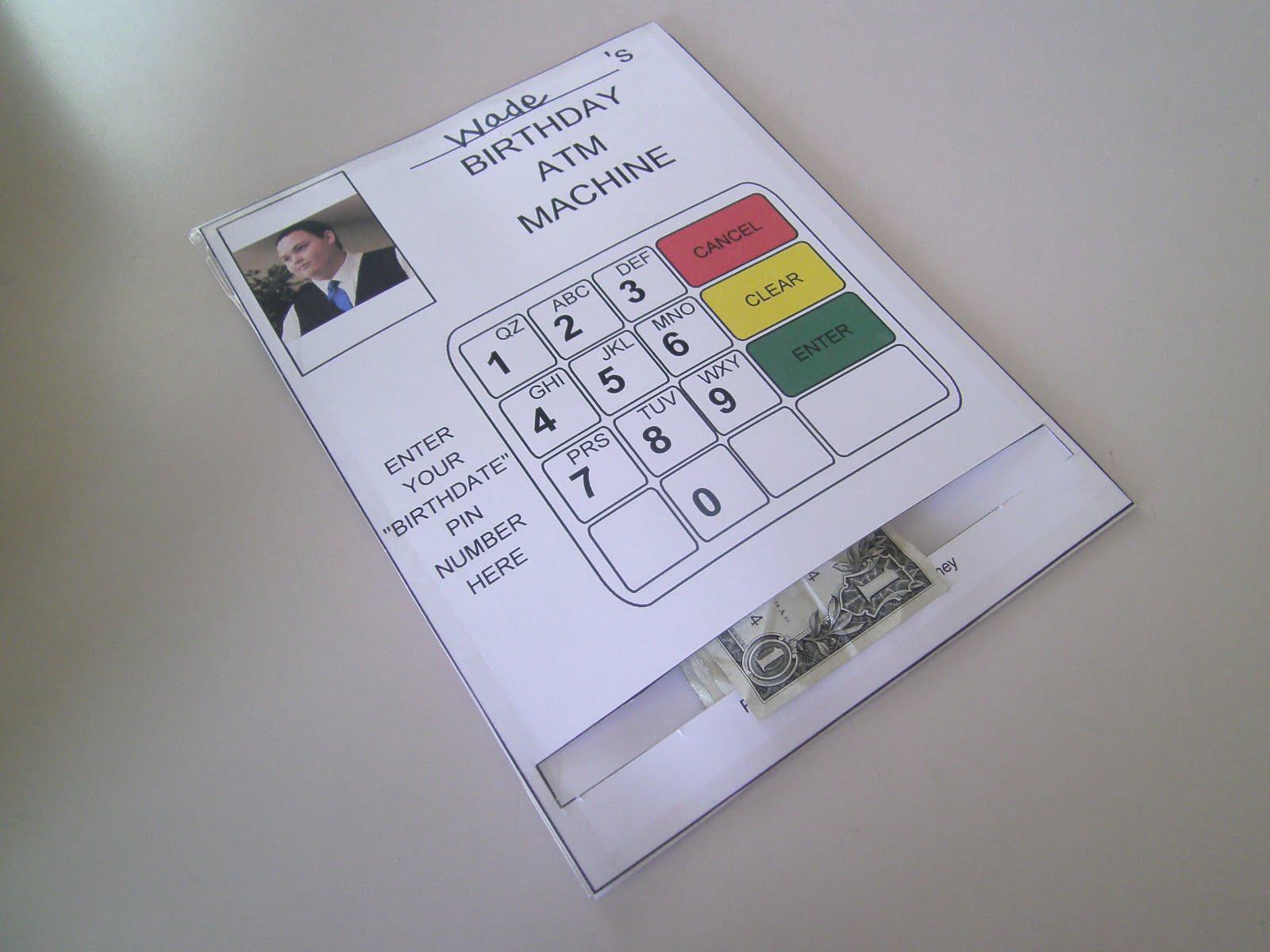 RobbyGurl's Creations DIY Birthday Card ATM Machine