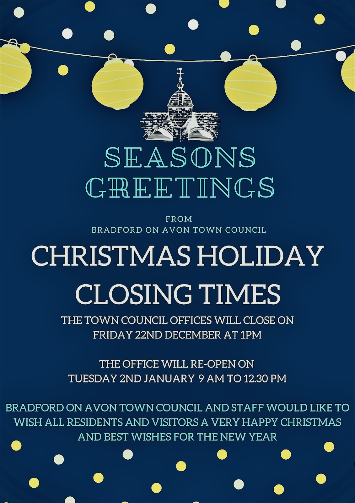 Seasons Greetings From Bradford On Avon Town Council Bradford On