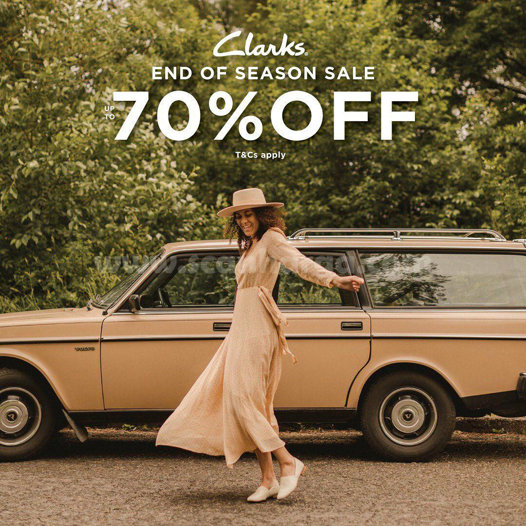 Promo CLARKS End Of Season SALE Discount Up To 70% Off*