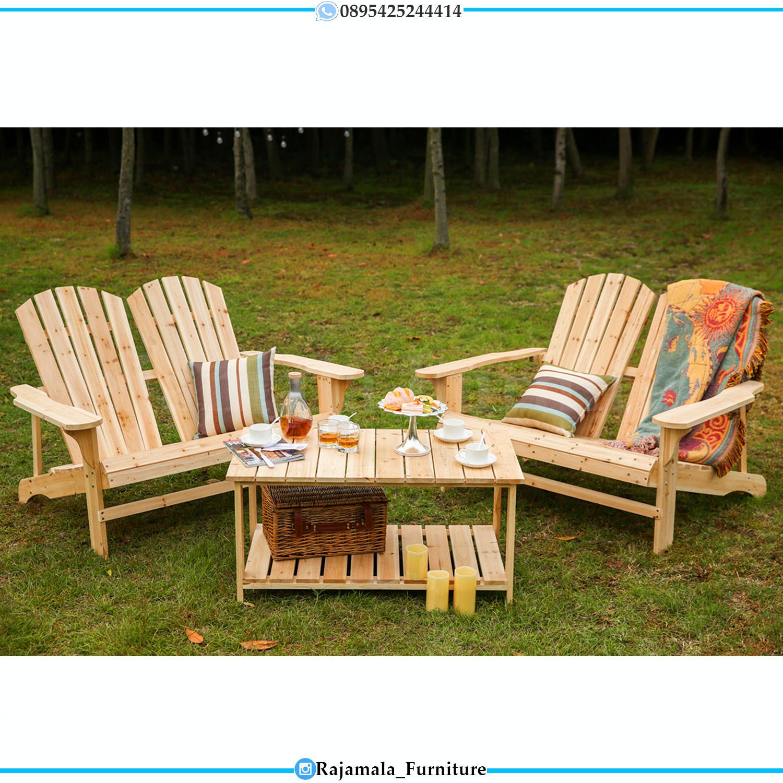 Harga Kursi Halaman Minimalis Kayu Jati Belanda Luxury Furniture Jepara RM-0192