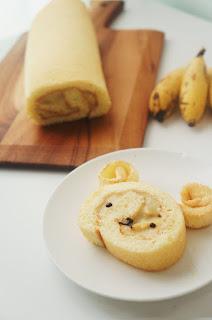 Bánh chuối cuộn - Banana Roll Cake 3