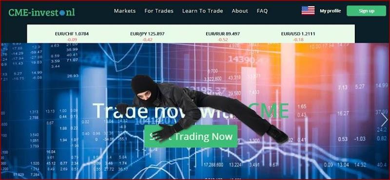 Мошеннический сайт cme-invest.nl – Отзывы? CME Investment Мошенники!