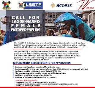 LSETF Loan Application for Lagos-Based Female Entrepreneurs 2019