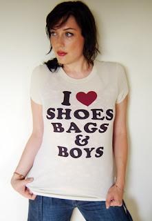 I love shoes bags & boys tee shirt